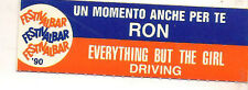 STICKER JUKE BOX - RON - UN MOMENTO ANCHE PER TE - DRIVING - EVERYTHING BUT THE
