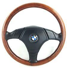 Genuine Nardi BMW E36 wood rim airbag steering wheel. Rare original OEM.   15D