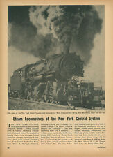 1955 New York Central Railroad Steam Locomotive Roster NYC Railway Engines