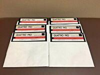 "Borland Quattro Pro Installation 5.25"" 5 1/4 Floppy Disks #1-6 Version 3.0"