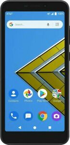 """NEW AT&T Radiant Core Prepaid Android Phone - 5.5"""" Display 16GB 5MP Camera Black"""