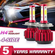 2x 4-sides H4 HB2 9003 CREE LED Headlight Kit 200W 6000K 30000LM Hi/lo Beam Bulb