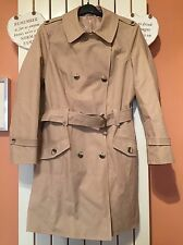 New Marks & Spencer beige double breasted coat UK 16
