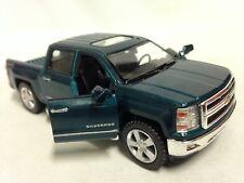 """2014 Chevrolet Silverado 4 x 4 Pickup Truck 5"""" Diecast 1:46 PullBack Kinsmart GR"""