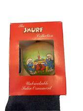 smurf christmas ornament 1982