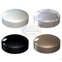 White Black Brown Chrome PLASTIDOME 2 Piece Plactic Dome Screw Cap Cover Protect