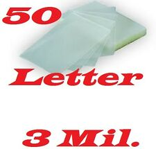 50 LETTER Laminating Laminator Pouches Sheets 9 x 11-1/2 3 Mil