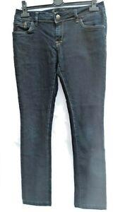 Jane Norman Straight Leg Stretch Womens Dark Blue Jeans