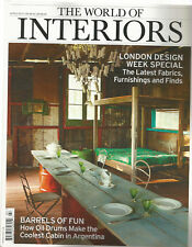 THE WORLD OF INTERIORS ARCHITECTURE MAGAZINE UK MARCH 2014