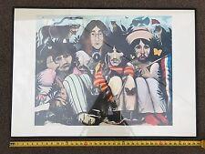 "Beatles ILLUSTRATED LYRICS POSTER / 1970 Alan Aldridge / HUGE / Framed 40"" x 28"""