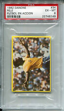 1982 Danone Futbol En Accion 34 Pele Soccer Card PSA 6 EX-Mint pop 2, 0 higher