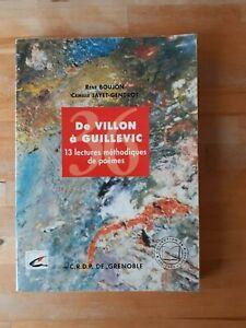 De Villon à Guillevic. 13 lectures méthodiques de poèmes - Collectif