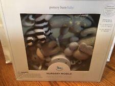Pottery Barn Kids Gray KNIT Animal nursery mobile CRIB/NIB