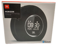 JBL Horizon Bluetooth Clock Radio USB Charging and Ambient Light - Black