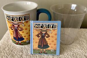 Mary Engelbreit Flower Pot Planter Mug 1999 Teleflora Snap Out Original Book NOS
