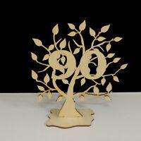Jubiläums Baum Geburtstag, 90 Jahre aus Holz 16 cm Lebensbaum Geschenk Hochzeit
