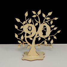 Jubiläumsbaum Geburtstag, 90 Jahre aus Holz 16cm Lebensbaum Geschenk Hochzeit