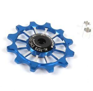 Narrow-Wide Jockey Wheel with Ceramic Bearings Derailleur Pulley 12T rear Blue
