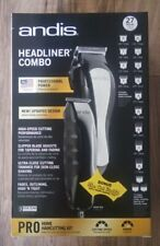 Andis Headliner Combo Clippers Trimmer 27 peice Kit PROFESSIONAL HAIR CUT NEW!