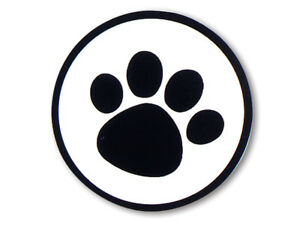 """Black Paw Print CLEAR Back Round Gift label Sticker 1-1/2"""" CHOOSE Package Amount"""
