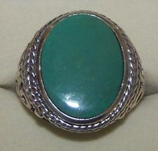 NEW ~  RING, OVAL STONE, TURQUOISE 925 STERLING SILVER RING SIZE: 9 1/2 ~ NEW