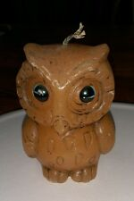 vintage owl-shaped candle Detailed Beautiful Blue Eyes Night Bird collector old