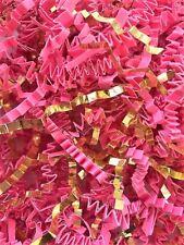 Crinkle Cut Paper Shred Gift Basket Filler - Metallic Gold & Hot Pink Blend