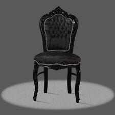 Barockstuhl schwarz Kunstleder antik repro Esszimmer Büro Lounge SONDERPREIS