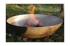Tazón de fuente de acero 80cm Grande Plato Quemador de madera Tazón Fuego Pit/