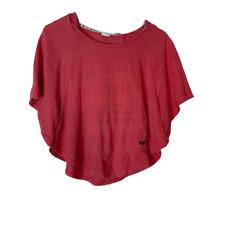 Roxy Girl Hooded Kangaroo Pocket Knit Top Pink L / XL