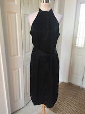 C/MEO Collective Black Halter Belted Shift  Dress Size L NWOT