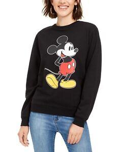 Disney Juniors' Mickey Mouse Graphic Sweatshirt Black Size Small