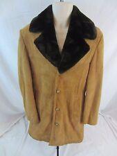 Vintage JC Penney Suede Leather Lined Brown Jacket Coat - Men's 38 - 0909