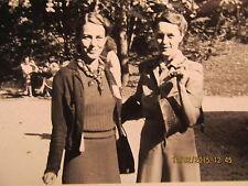 Vtg. Photo Snapshot Sally Sanders Irene Haggart URD State Picnic Mitchell IN
