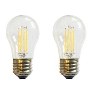 (2) LED A15 (25-Watts Equivalent) Appliance Freezer Refrigerator Light Bulb E26