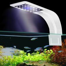 Super Slim 10W 24LED Impermeable Acuario luz casa Pescado Tanque crecer Clip lámpara de la UE