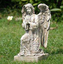 "New 12"" Praying Garden Angel Statue Flower Dress Cherub Garden Decor Memorial"