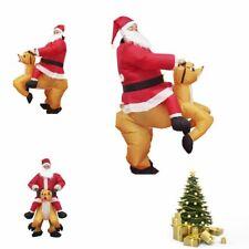 Inflatable Christmas Santa Father Jumpsuit Adult Blow Up Costume Xmas Suit Dress