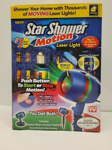 NEW SEALED - BulbHead Star Shower Motion Laser Lights Projector SEEN ON TV