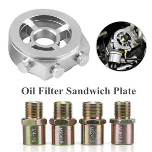 Car Oil Cooler Filter sandwich plate Adapter AN10 M20x1.5/M22/1.5/M18x1.5/3/4-16
