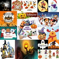 DMC Modern Holiday Christmas Halloween Cross Stitch Pattern Chart PDF 14 Count