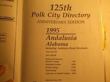 POLK CITY DIRECTORY  ANDALUSIA ALABAMA  - 125TH ANNIVERSARY EDITION