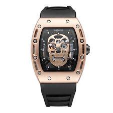 Skull Men's Watches Baogela Quartz Movement Alloy Case Black Silicone Watchband