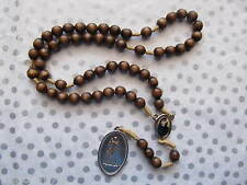 Saint Maria Faustina Kowalska Relic Rosary - Wood 8mm