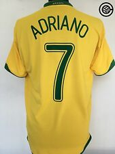 ADRIANO #7 Brazil Nike Home Football Shirt Jersey World Cup 2006 (L)