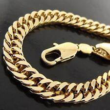 A049 GENUINE REAL 18K YELLOW G/F GOLD SOLID MEN'S ITALIAN CURB NECKLACE CHAIN