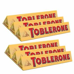 Toblerone Milk Chocolate with Honey & Almond Nougat 6 Pack Pouch - 100gm* 6
