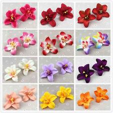 "10/20P 3"" Artificial Silk Flowers Head Bulk Fake Floral Orchid Wedding DIY Decor"