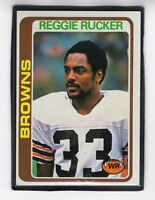 1978  REGGIE RUCKER - Topps Football Card- # 473 - Cleveland Browns
