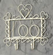 Loo Hook Rack Heart Cream Toilet Sign Tidy Chic Bathroom Shabby Home  New